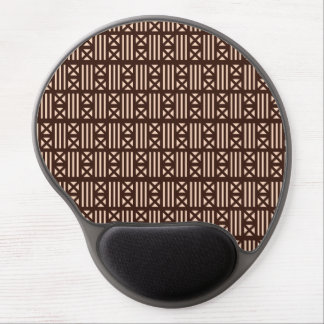 Dark Brown MudCloth Inspired Tile Tiling Cross Gel Mouse Pad