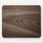 Dark brown oak wood grain image mouse pad