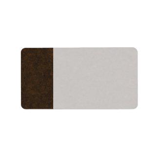 Dark Brown Pattern Label
