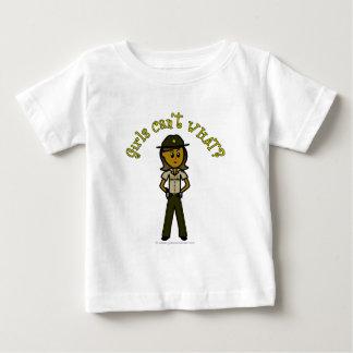 Dark Brown Sheriff Girl Baby T-Shirt