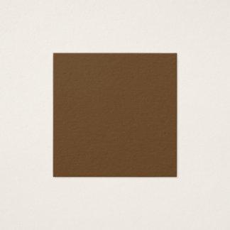 Dark Brown Square Business Card