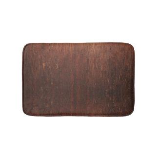 Dark Brown Wood Bath Mat
