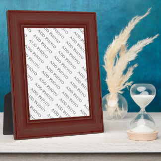 Dark Brown Wood Frame Add Photo Plaque