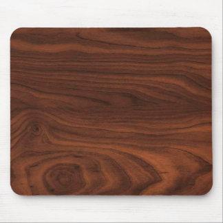 Dark Brown Wood Look Mouse Pad