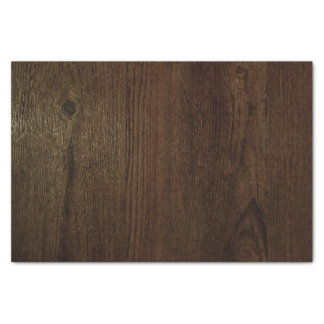 Dark Brown Woodgrain Tissue Paper