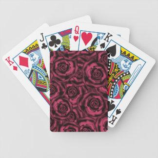 Dark Burgundy roses . Bicycle Playing Cards