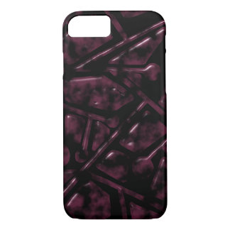 Dark Burgundy Trapezoidal Pattern iPhone 8/7 Case