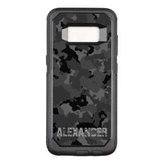 Dark Camo Name Template OtterBox Commuter Samsung Galaxy S8 Case