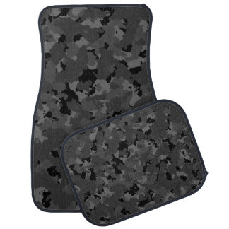 Dark Camo Pattern Car Mat