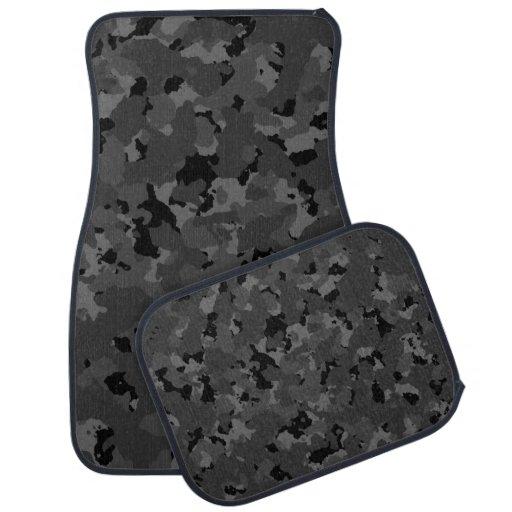 Dark Camo Pattern Floor Mat