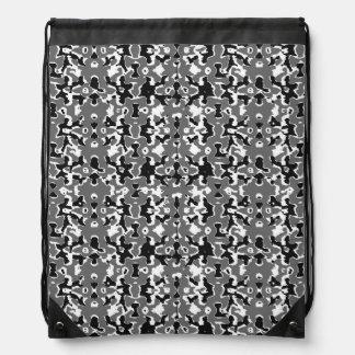 Dark Camo Style Design Drawstring Bag