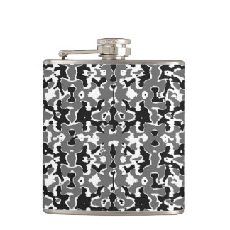 Dark Camo Style Design Hip Flask