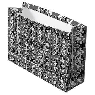 Dark Camo Style Design Large Gift Bag