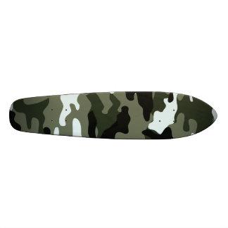 Dark camouflage skateboard deck