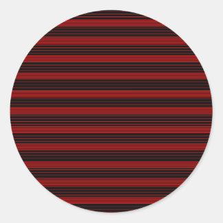 Dark Casual Round Sticker