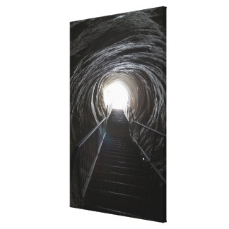 Dark Cave Tunnel Canvas Print
