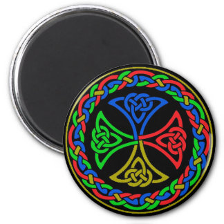 Dark Celtic Knots Round Magnet