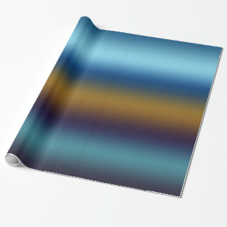 Dark Cerulean Russet Wrapping Paper
