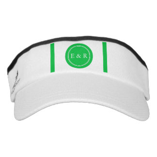 Dark Chalky Pastel Green Wedding Party Set Visor