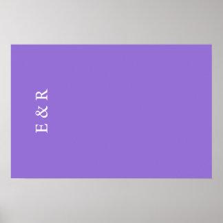 Dark Chalky Pastel Purple Wedding Decoration Set Poster