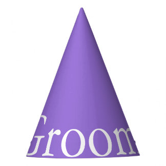 Dark Chalky Pastel Purple Wedding Party Set Party Hat
