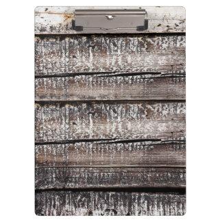 Dark charcoal distressed wood boards clipboard