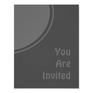 "Dark Charcoal Grey Modern Party Invite 4.25"" X 5.5"" Invitation Card"
