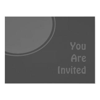 "Dark Charcoal Grey Modern Party Invite 6.5"" X 8.75"" Invitation Card"