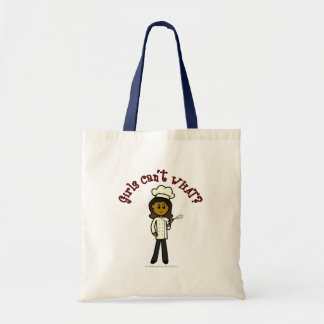 Dark Chef Girl Budget Tote Bag