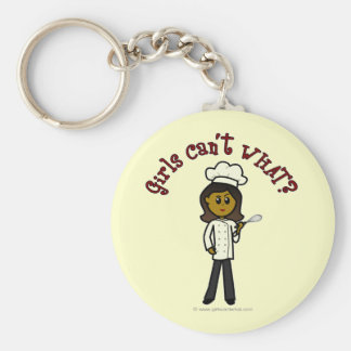 Dark Chef Girl Key Ring
