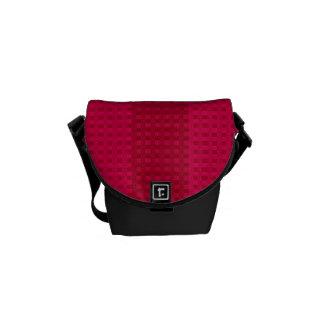 Dark Cherry Stripes Rickshaw Messenger Bag
