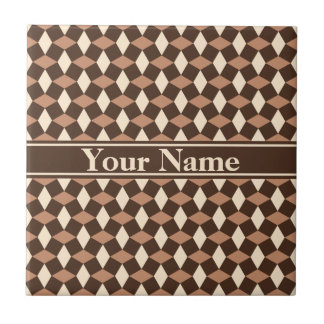 Dark Chocolate Brown Wavy Pattern Ceramic Tile