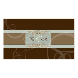 Dark Chocolate Classic Wedding place card Business Card
