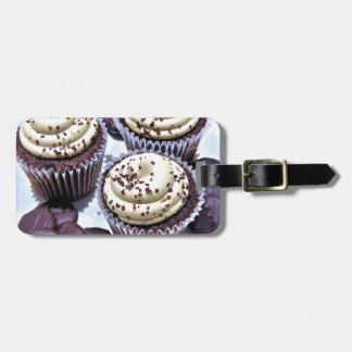 Dark Chocolate Cupcakes - Sweet Bakery Print Travel Bag Tags