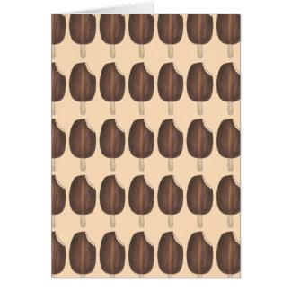 Dark Chocolate Ice Cream Popsicle Cards