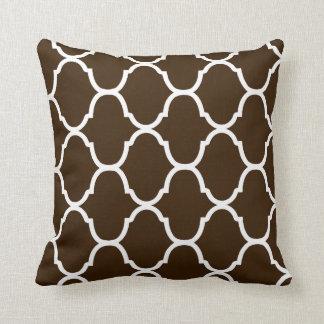 Dark Chocolate Villa Print Cushion