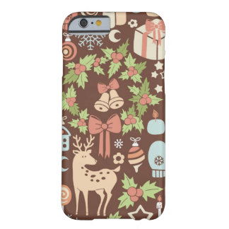 Dark Christmas background Barely There iPhone 6 Case