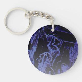 Dark Circle (single-sided) Keychain