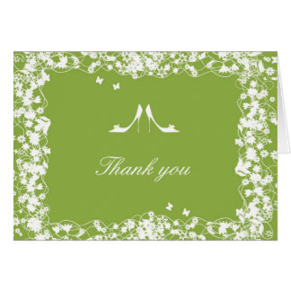 Dark Citron Heels Thank You Card