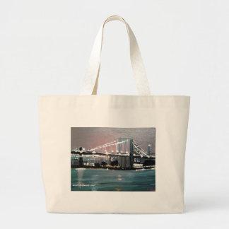 Dark CityScape Large Tote Bag