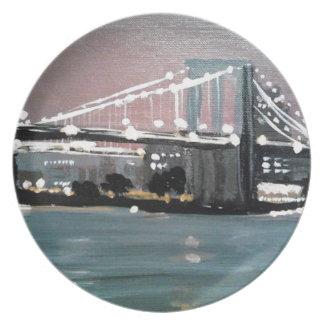 Dark CityScape Plate