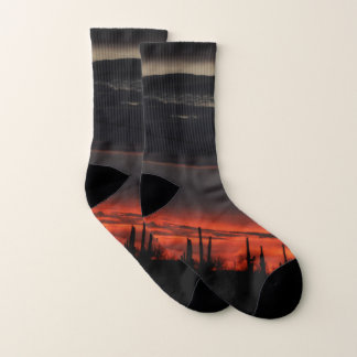 Dark Clouds and Cactus in Orion Unisex Socks 1