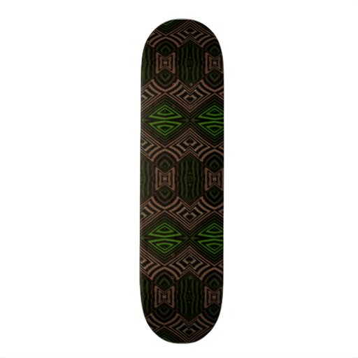 Dark colored abstract pattern skateboard deck