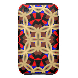 Dark colorful abstract pattern tough iPhone 3 cover