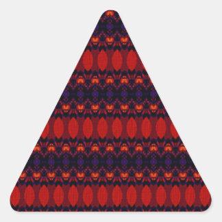 Dark colorful cool pattern triangle sticker