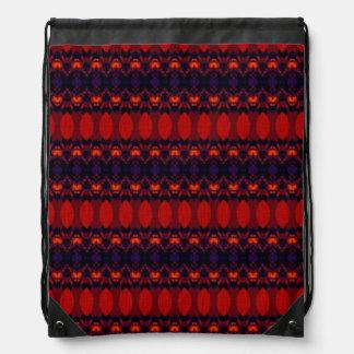 Dark colorful pattern drawstring bag