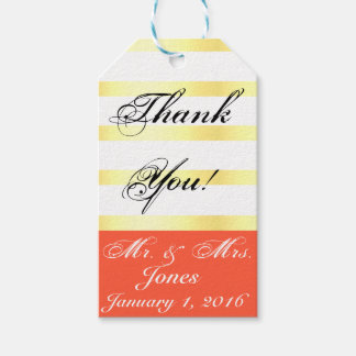 Dark Coral Thank You Gift Tag