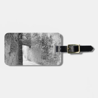 Dark corridors of an old fortification structure luggage tag