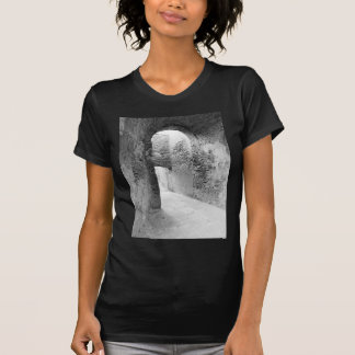 Dark corridors of an old fortification structure T-Shirt
