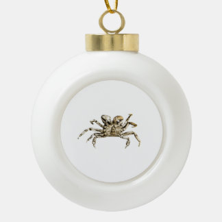 Dark Crab Photo Ceramic Ball Christmas Ornament